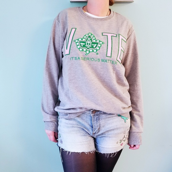 41bdcc50b5d2 Ivy Storehouse Tops - Alpha Kappa Alpha Vote Sweatshirt NWOT